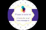 Fournitures d'anniversaire Étiquettes rondes - gabarit prédéfini. <br/>Utilisez notre logiciel Avery Design & Print Online pour personnaliser facilement la conception.