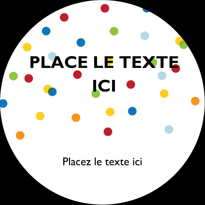 """2"""" Diameter Étiquettes rondes - Confettis d'anniversaire"""