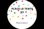 Confettis d'anniversaire Étiquettes rondes - gabarit prédéfini. <br/>Utilisez notre logiciel Avery Design & Print Online pour personnaliser facilement la conception.