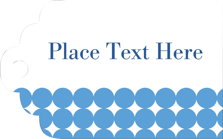 "1⅛"" x 2"" Printable Tags - Blue Circles"