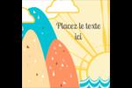 Surfeur rétro Étiquettes enveloppantes - gabarit prédéfini. <br/>Utilisez notre logiciel Avery Design & Print Online pour personnaliser facilement la conception.
