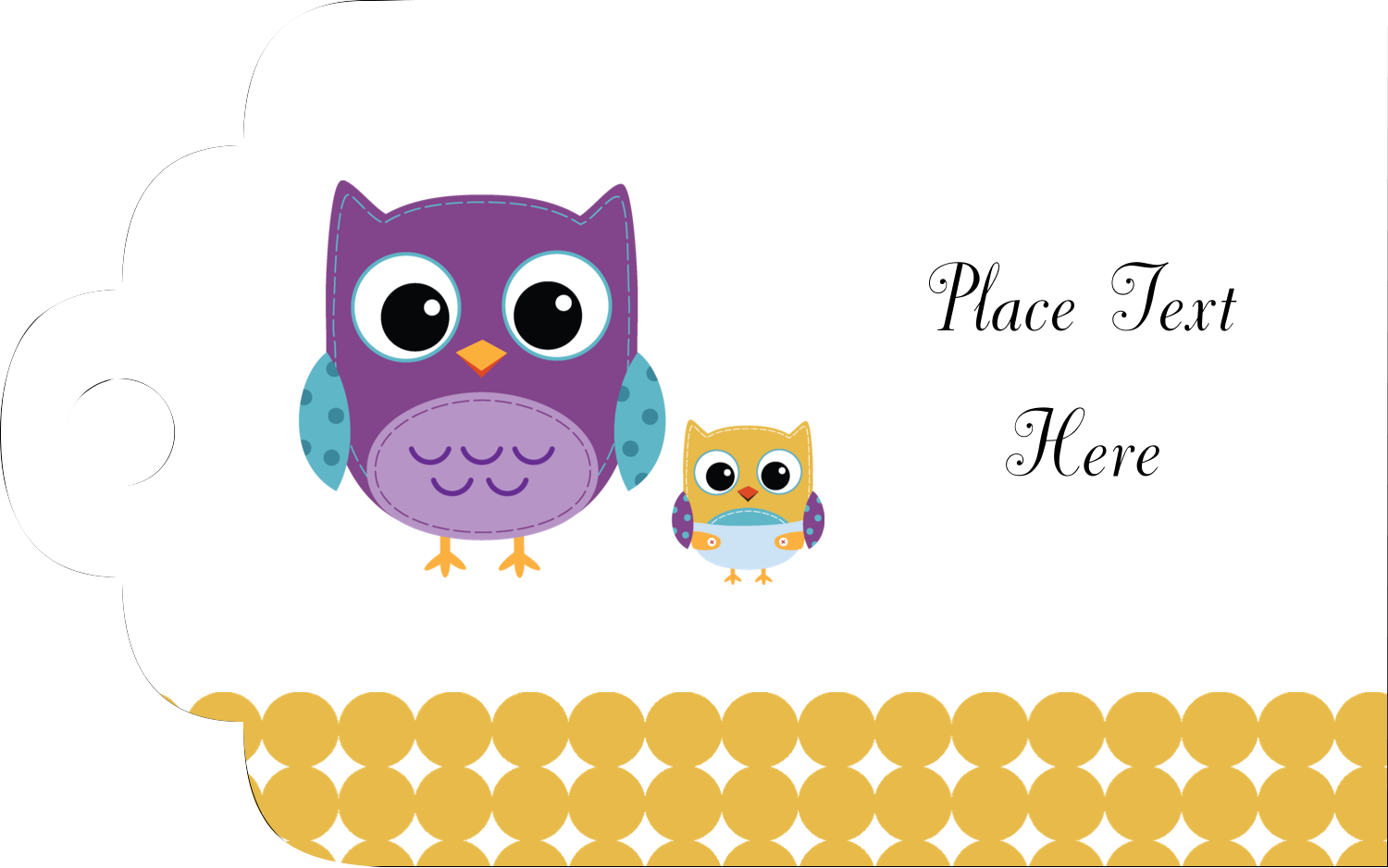 "1⅛"" x 2"" Printable Tags - Baby Owl"