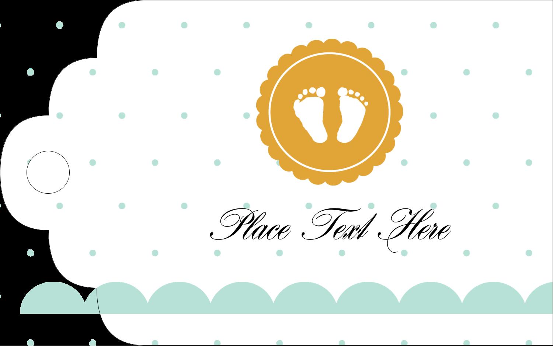 "2"" x 1⅛"" Printable Tags - Baby Footprints"