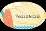 Surfeur rétro Étiquettes carrées - gabarit prédéfini. <br/>Utilisez notre logiciel Avery Design & Print Online pour personnaliser facilement la conception.
