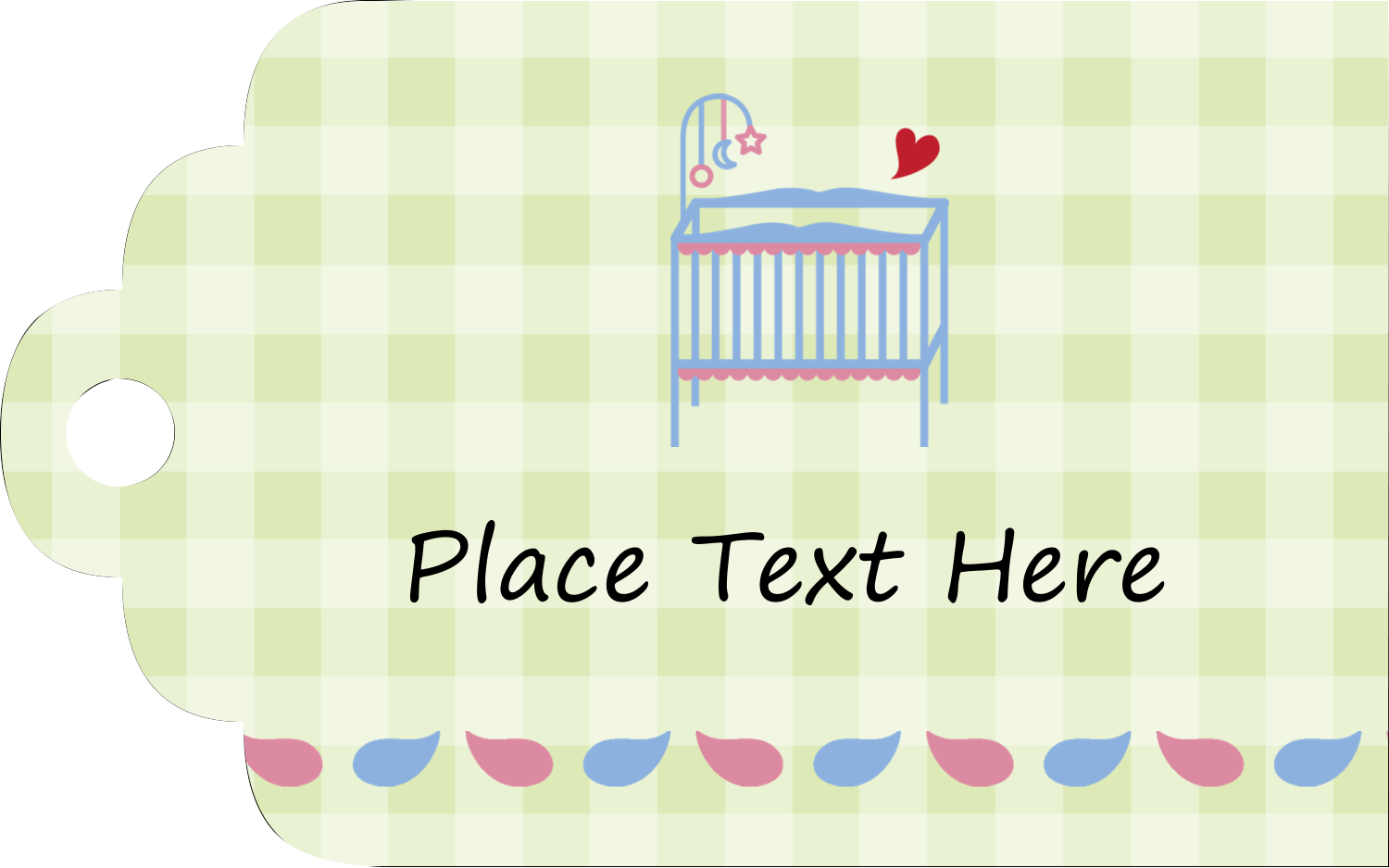 "2"" x 1⅛"" Printable Tags - Baby Crib"