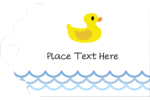 Your custom project will make a splash with pre-designed Baby Duckie templates.