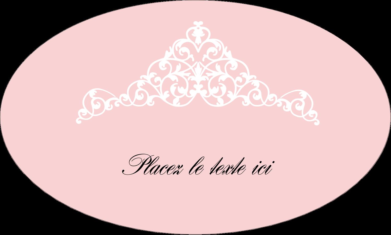 """1½"""" x 2½"""" Étiquettes ovales - Diadème rose"""