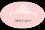 Diadème rose Étiquettes ovales - gabarit prédéfini. <br/>Utilisez notre logiciel Avery Design & Print Online pour personnaliser facilement la conception.