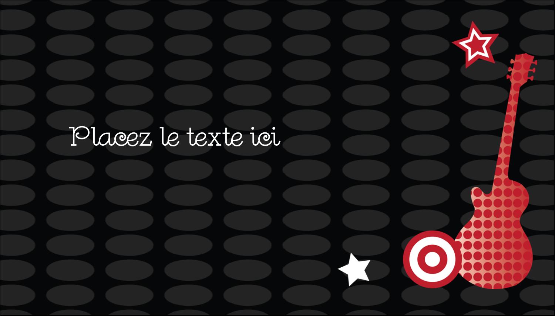 """2"""" x 3½"""" Carte d'affaire - Guitare d'anniversaire"""