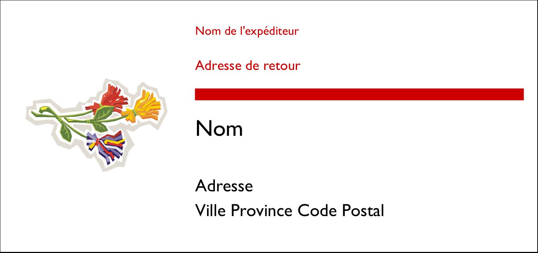 """4¼"""" x 2"""" Étiquettes Pour Copieurs - Trois fleurs"""