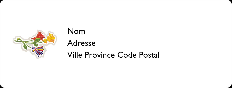 Trois fleurs Étiquettes D'Adresse - gabarit prédéfini. <br/>Utilisez notre logiciel Avery Design & Print Online pour personnaliser facilement la conception.