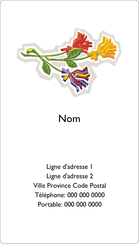 Trois fleurs Carte d'affaire - gabarit prédéfini. <br/>Utilisez notre logiciel Avery Design & Print Online pour personnaliser facilement la conception.