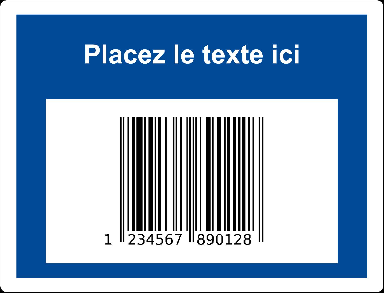 """2⅝"""" x 2"""" Étiquettes D'Identification - Code-barres de série"""
