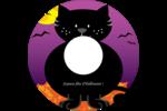 Chatte noire d'Halloween Étiquettes de classement - gabarit prédéfini. <br/>Utilisez notre logiciel Avery Design & Print Online pour personnaliser facilement la conception.