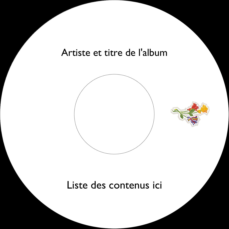 CD/DVD Étiquettes Pour Médias - Trois fleurs