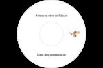 Trois fleurs Étiquettes Pour Médias - gabarit prédéfini. <br/>Utilisez notre logiciel Avery Design & Print Online pour personnaliser facilement la conception.