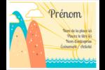 Surfeur rétro Badges - gabarit prédéfini. <br/>Utilisez notre logiciel Avery Design & Print Online pour personnaliser facilement la conception.