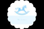 Cheval à bascule Étiquettes rondes - gabarit prédéfini. <br/>Utilisez notre logiciel Avery Design & Print Online pour personnaliser facilement la conception.