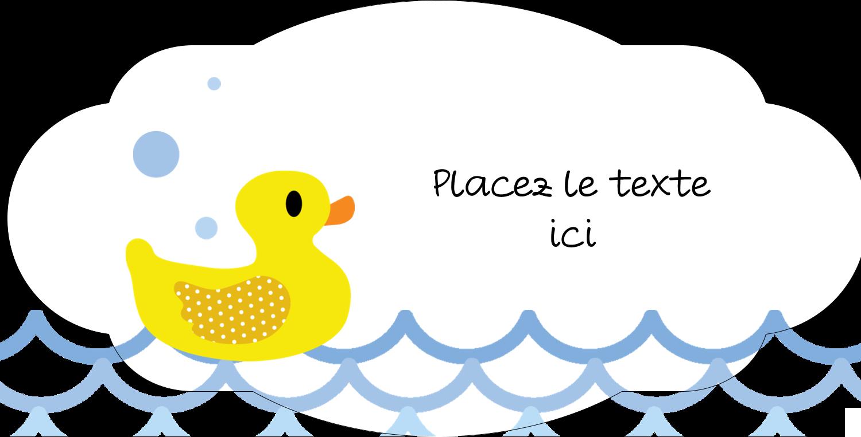 Petit canard Étiquette Industrielles - gabarit prédéfini. <br/>Utilisez notre logiciel Avery Design & Print Online pour personnaliser facilement la conception.