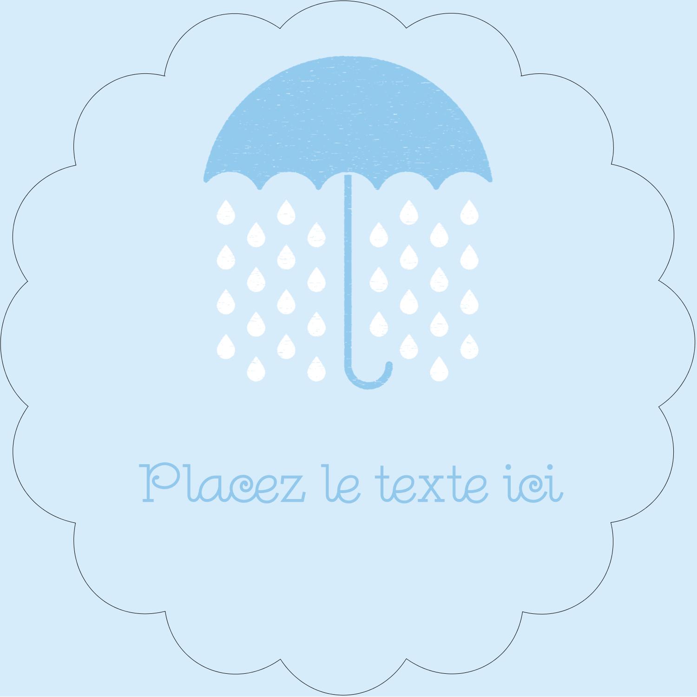 """2½"""" Diameter Étiquettes rondes - Parapluie pour bébé"""