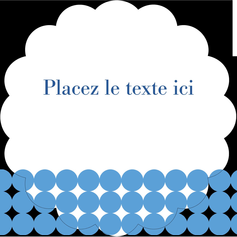"""2½"""" Diameter Étiquettes rondes - Cercles bleus"""