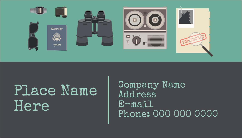 """2"""" x 3½"""" Business Card - Spy Gear"""
