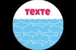 Requins bleus Étiquettes Voyantes - gabarit prédéfini. <br/>Utilisez notre logiciel Avery Design & Print Online pour personnaliser facilement la conception.