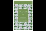 Savon fleurs vertes Reliures - gabarit prédéfini. <br/>Utilisez notre logiciel Avery Design & Print Online pour personnaliser facilement la conception.