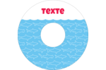 Requins bleus Étiquettes de classement - gabarit prédéfini. <br/>Utilisez notre logiciel Avery Design & Print Online pour personnaliser facilement la conception.