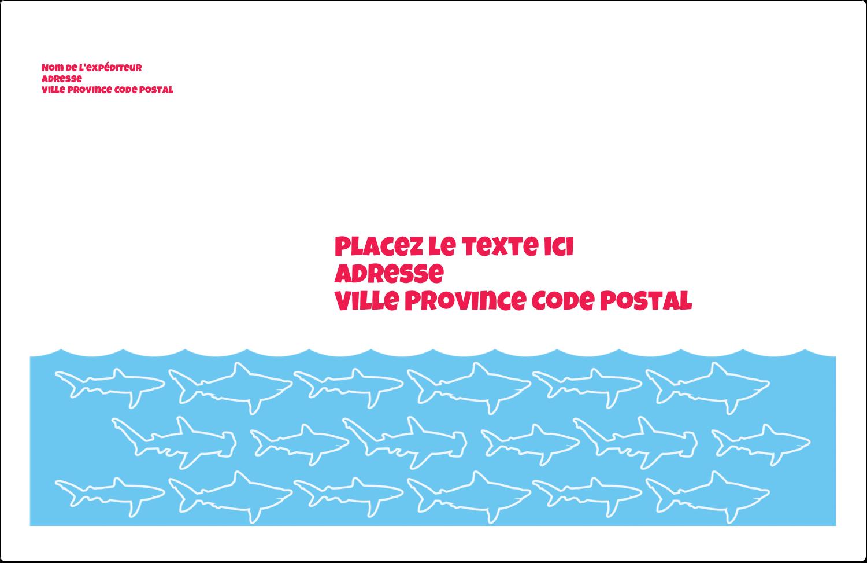 """1½"""" x 4"""" Étiquettes d'adresse - Requins bleus"""
