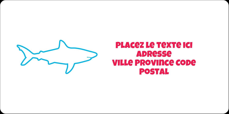 """3-7/16"""" x ⅔"""" Étiquettes de classement écologiques - Requins bleus"""
