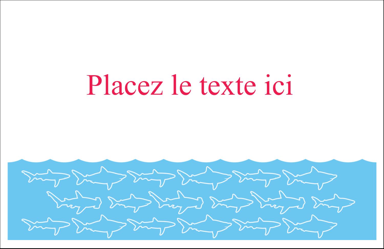 """8½"""" x 11"""" Cartes Et Articles D'Artisanat Imprimables - Requins bleus"""