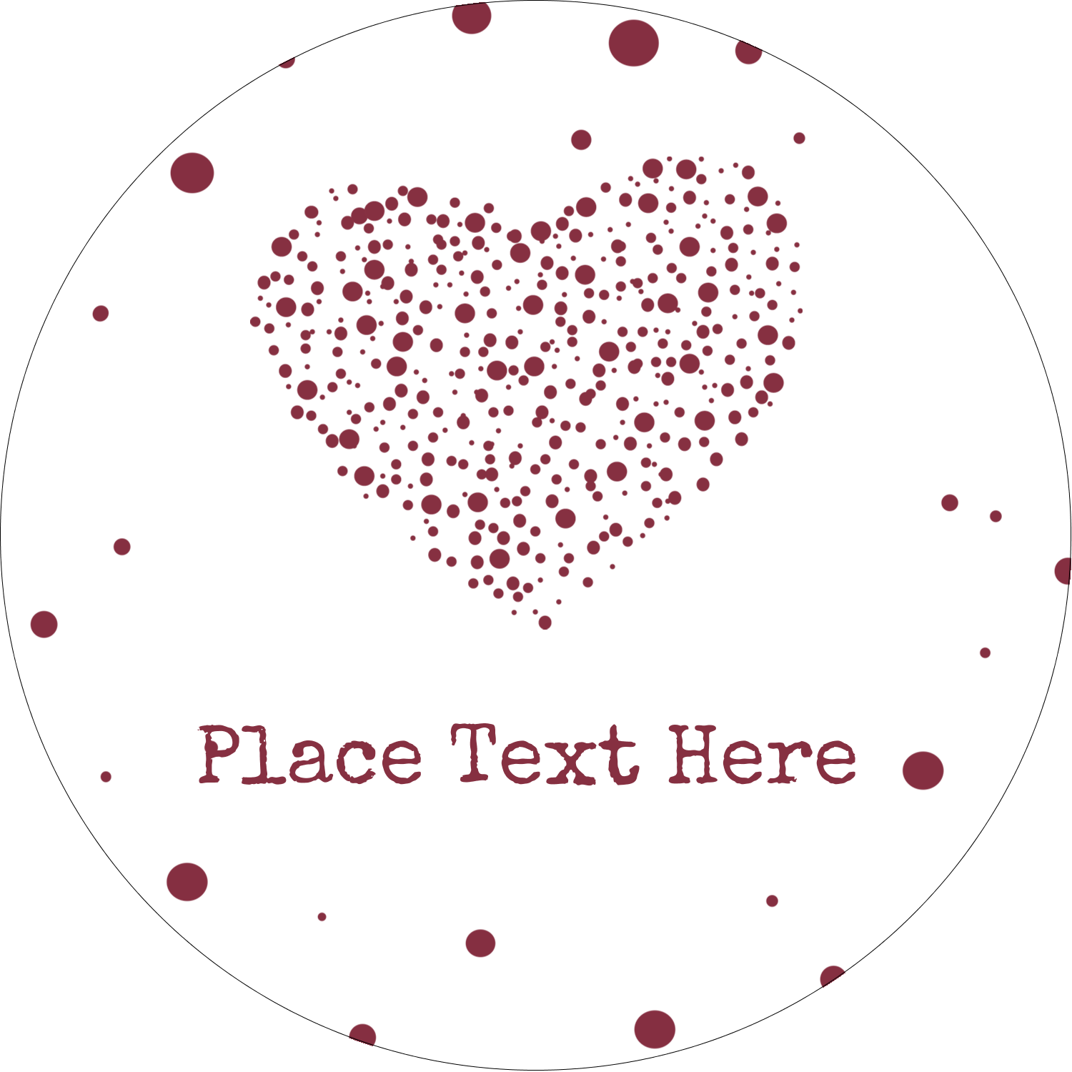 "2½"" Round Label - Heart Spot"