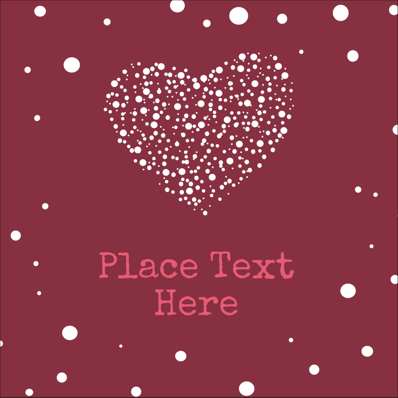 """1½"""" x 1½"""" Square Label - Heart Spot"""