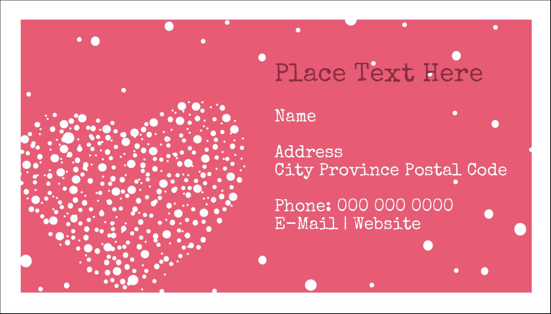 """2"""" x 3½"""" Business Card - Heart Spot"""