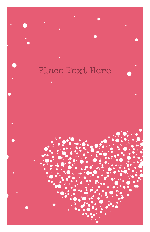 """5"""" x 8½"""" Half Fold Card - Heart Spot"""