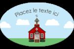 École rouge Étiquettes carrées - gabarit prédéfini. <br/>Utilisez notre logiciel Avery Design & Print Online pour personnaliser facilement la conception.
