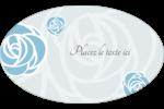 Roses bleues officielles Étiquettes carrées - gabarit prédéfini. <br/>Utilisez notre logiciel Avery Design & Print Online pour personnaliser facilement la conception.