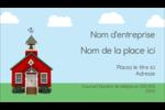 École rouge Carte d'affaire - gabarit prédéfini. <br/>Utilisez notre logiciel Avery Design & Print Online pour personnaliser facilement la conception.