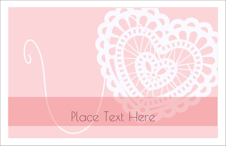 "5½"" x 8½"" Greeting Card - Valentine Crochet"