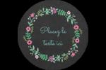 Craie florale Étiquettes de classement - gabarit prédéfini. <br/>Utilisez notre logiciel Avery Design & Print Online pour personnaliser facilement la conception.