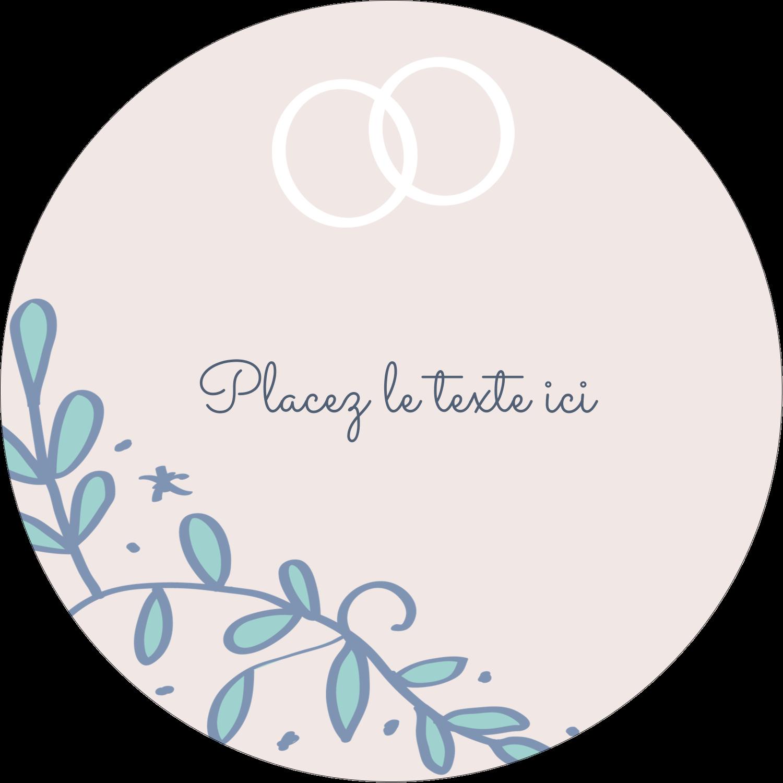 """2½"""" Diameter Étiquettes rondes - Réservez la date bleu"""