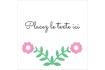 Craie florale Étiquettes enveloppantes - gabarit prédéfini. <br/>Utilisez notre logiciel Avery Design & Print Online pour personnaliser facilement la conception.