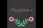 Craie florale Étiquettes carrées - gabarit prédéfini. <br/>Utilisez notre logiciel Avery Design & Print Online pour personnaliser facilement la conception.