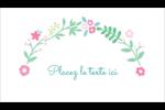 Craie florale Cartes Pour Le Bureau - gabarit prédéfini. <br/>Utilisez notre logiciel Avery Design & Print Online pour personnaliser facilement la conception.