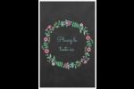 Craie florale Reliures - gabarit prédéfini. <br/>Utilisez notre logiciel Avery Design & Print Online pour personnaliser facilement la conception.