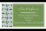 Savon fleurs vertes Cartes Pour Le Bureau - gabarit prédéfini. <br/>Utilisez notre logiciel Avery Design & Print Online pour personnaliser facilement la conception.