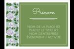 Savon fleurs vertes Badges - gabarit prédéfini. <br/>Utilisez notre logiciel Avery Design & Print Online pour personnaliser facilement la conception.