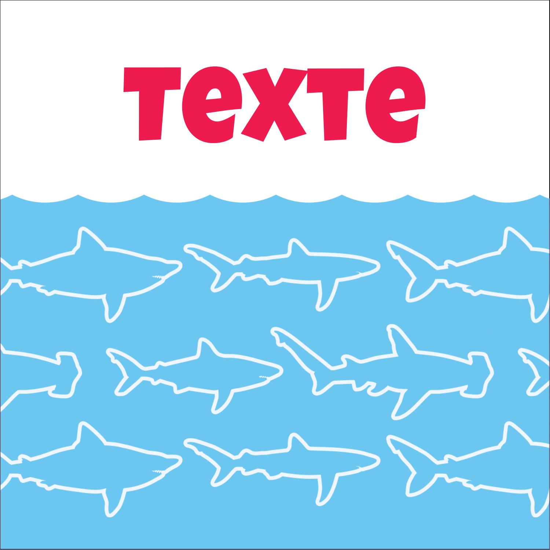 """9¾"""" x 1¼"""" Étiquettes enveloppantes - Requins bleus"""