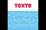 Requins bleus Étiquettes enveloppantes - gabarit prédéfini. <br/>Utilisez notre logiciel Avery Design & Print Online pour personnaliser facilement la conception.